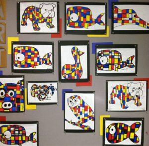 mondrian-animals-art