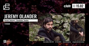 Jeremy Olander at CLSTR